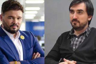 """Rufián acusa al rey Felipe VI de ser """"votante y militante de VOX"""" con Ignacio Escolar dando saltos de alegría"""