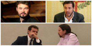 ¡Cojan palomitas y disfruten! Rufián e Iglesias se ponen como el bicho del pantano con el 'sociata' Óscar Puente por su imprudencia fotográfica