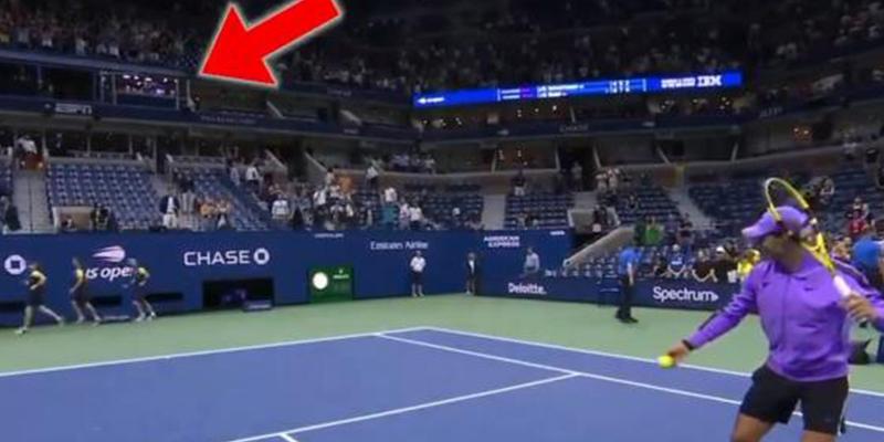 """Vídeo viral: El """"tiro imposible"""" con el que Rafael Nadal ganó una apuesta"""