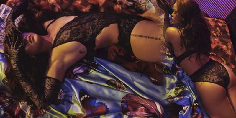Rihanna posa con lencería para promocionar su colección de ropa interior