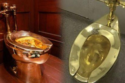 La Policía recupera el water de oro macizo, valorado en US$5 millones, que los cacos robaron en el palacio donde nació Churchill
