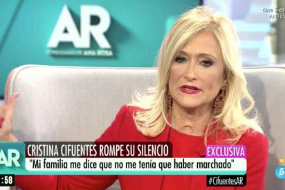 Ana Rosa saca las primeras palabras de Cristina Cifuentes, que no se baja del burro con sus cremas...
