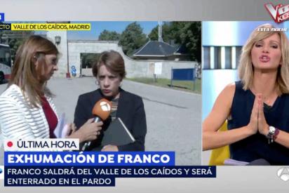La mujer más franquista de España monta un pollo tremendo en Antena3 al confirmar el Supremo la exhumación de Franco