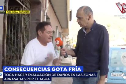 """Un afectado por la gota fría deja en bragas a la izquierda ante una incómoda Griso: """"Ganan 15.000 euros al mes y aquí no ha venido nadie"""""""