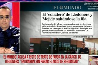 EN DIRECTO El Quilombo / El 'vis a vis' de Mejide con Romeva fue todo mentira: le envió un cuestionario a la cárcel con preguntas amables