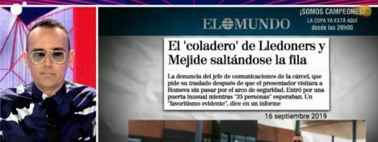 El Quilombo / El 'vis a vis' de Mejide con Romeva fue todo mentira: le envió un cuestionario a la cárcel con preguntas amables