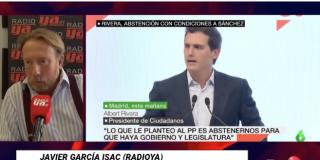 """Javier García Isac (Radio YA): """"Albert Rivera se ha sacado un desesperado conejo de la chistera para recuperar la iniciativa"""""""