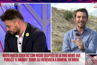 """Bestial troleo de Javier Negre al chulo de Rufián: """"¿No te da vergüenzacobrar de un país al que quieres romper?"""""""