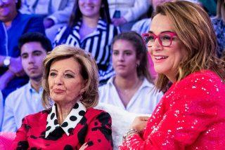 Toñi Moreno se muere de la vergüenza al 'sacarle del armario' María Teresa Campos