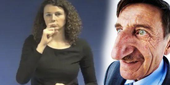 Un grupo de judíos exige eliminar el gesto del lenguaje de señas con nariz de gancho para referirse a ellos