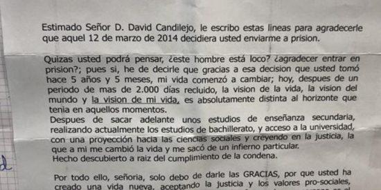 """La carta del preso que da las gracias al juez que lo mandó a prisión por """"darle una vida nueva"""""""