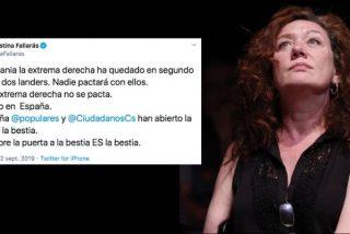 """La zafia Fallarás llama """"bestia"""" a Vox y se lleva un guantazo monumental: """"Se pacta con etarras e indepes y nadie dice nada"""""""