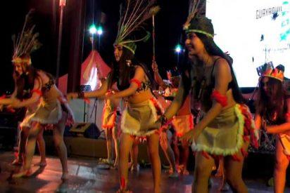 """La danza de las bellas """"Guerreras Amazonas"""" de Ecuador"""