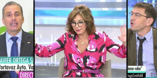 """El Monedero más chavista acusa de 'asesinato' a Ortega Smith (Vox) en directo: """"Lleváis la mano del puñal que asesina a las mujeres"""""""