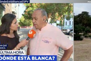 La reportera de Antena3 y el heladero Alfredo.