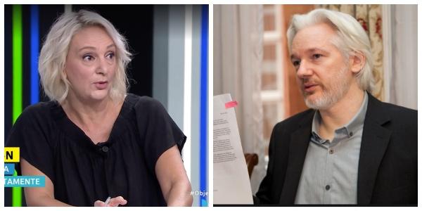 """Twitter se parte de risa con el nuevo look de Bescansa: """"Nos alegra ver a Julian Assange en libertad"""""""