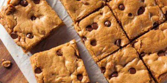 Blondies o brownies rubios, receta fácil