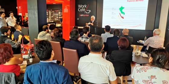 El café peruano llega al Banco Santander Work Café
