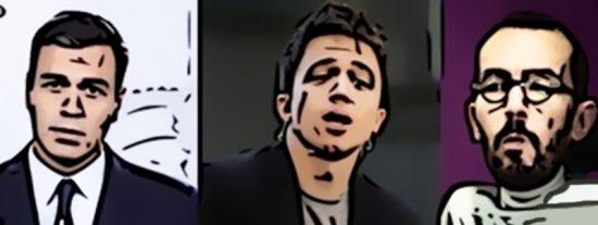 La izquierda ya es una caricatura: desde la ridícula carta de Sánchez hasta Echenique prepoteando a laSexta