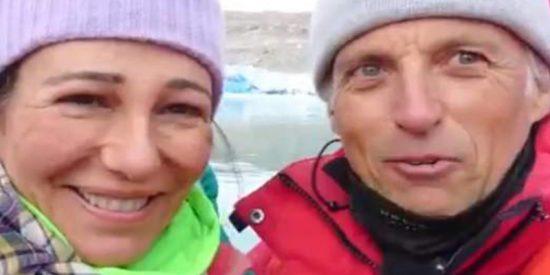 ¡Con un par!: Ana Botín se fue con Jesús Calleja de expedición a un glaciar de Groenlandia