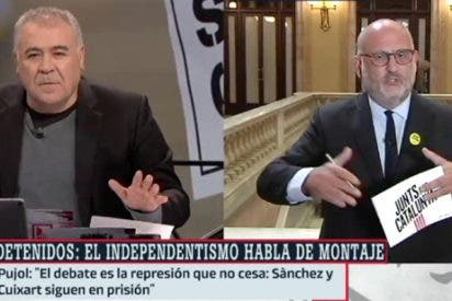 Hasta en tres ocasiones se niega este desaforado político independentista a condenar a los detenidos CDR que pretendían atentar