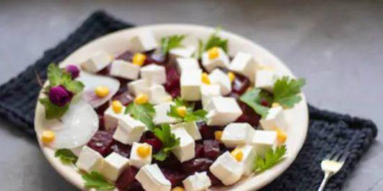 Ensalada de remolacha y queso fresco