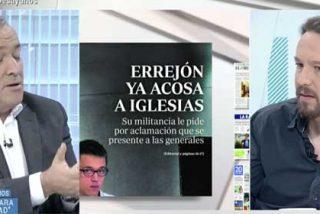 Fortes echa mano del ABC para intentar incomodar a Iglesias con Errejón y el podemita se cachondea del tibio entrevistador de TVE