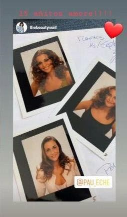 Fotos antiguas de Paula Echevarría publicadas por Cristina Mitre.