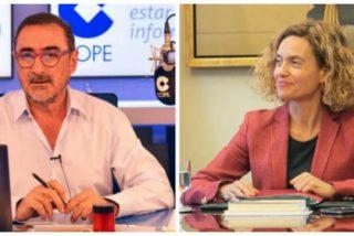 """Carlos Herrera deja en bragas a las """"feministas de boquilla"""" del PSOE que iban a tragarse sin rechistar la humillación de una delegación iraní"""
