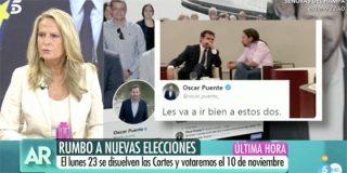 """Isabel San Sebastián hunde al 'fotógrafo voyeur' socialista: """"Lo de Óscar Puente es sucísimo"""""""