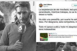 """El reportero caradura de laSexta que pactó un boicot con los CDR presume de """"haber salido ileso"""" de su 'conexión fake'"""