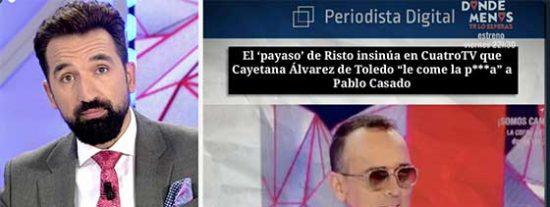 """Mejide y Lago se acojonan y censuran a PD por publicar que insinuaron que Álvarez de Toledo le comía la p*lla a Casado: """"¿Dónde está la libertad de expresión de los humoristas?"""""""