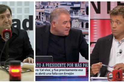 Losantos se carcajea del infame peloteo de Ferreras y su tropa a Errejón con una icónica y descacharrante imagen