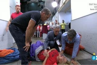 ¡A urgencias! Se llevan a Lydia Lozano entre gritos de dolor tras sufrir un golpe tremendo en 'Sálvame'