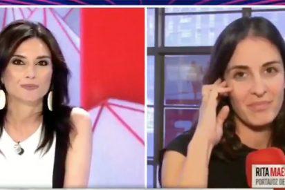 Espectacular costalazo de Rita Maestre en TV al poco de presentar su 'Más Errejón'