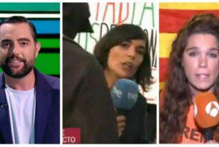 La inoportuna y desagradable broma de Dani Mateo contra la prensa española al tiempo que agreden a dos reporteras de TVE y Antena 3