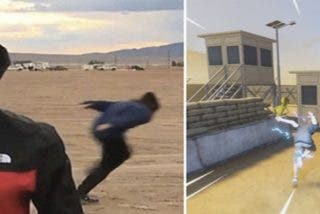 Lo que esconde el video viral del joven que corre como Naruto en el Área 51