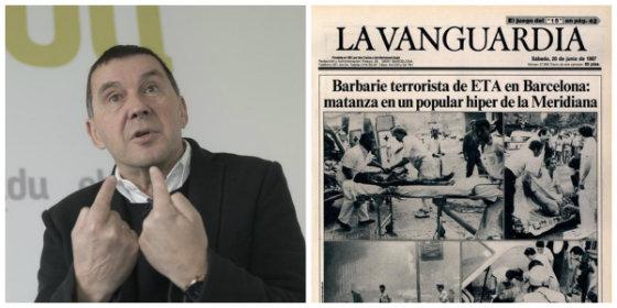 El terrorista Arnaldo Otegi felicita la Diada a los catalanes y en Twitter le dinamitan su tremenda jeta