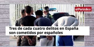 El Periódico de Cataluña retuerce las estadísticas para ocultar que los extranjeros delinquen más que los españoles