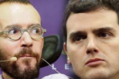 """""""Con un par…de ruedas"""": Echenique señala a Albert Rivera por el hackeo del WhatsApp"""