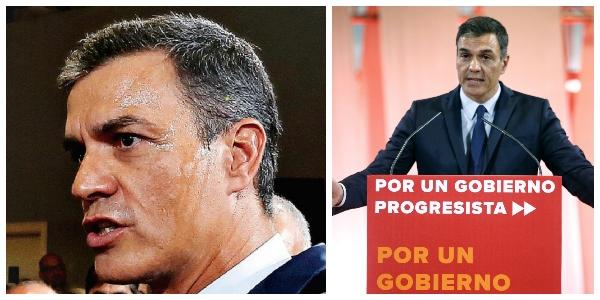 El 'sudoroso' Pedro Sánchez salta del fraude a la farsa