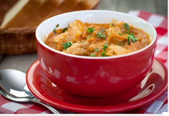 sopa de carne de ternera