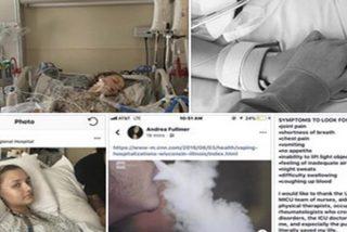 Una chica de 18 años, en coma inducido por una neumonía provocada por vapear