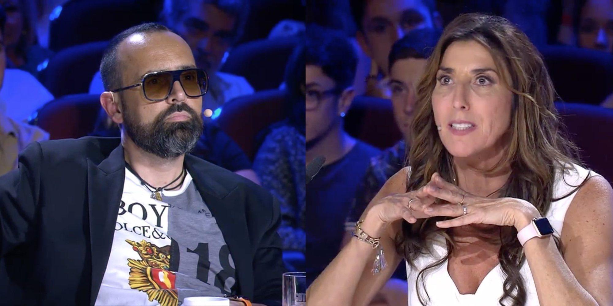 """Paz Padilla deja para el arrastre a su compañero Risto Mejide intentando mofarse de su """"ojo a la virulé"""""""