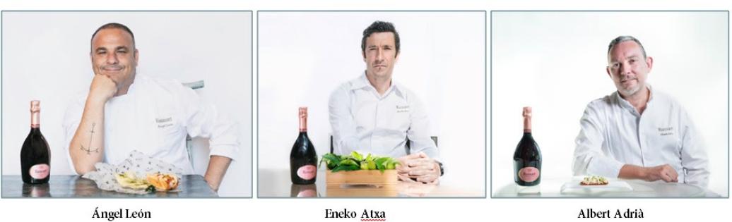 """""""Ruinart Rosé Market"""" llega a Madrid con platos creados por tres de los mejores chefs nacionales: Ángel León, Eneko Atxa y Albert Adrià"""