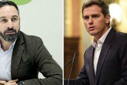 La encuesta electoral que hunde en el lodo a Albert Rivera y le da un alegrón del quince a Santiago Abascal
