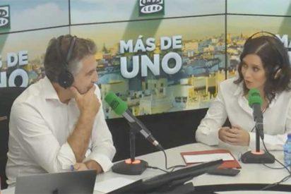 Díaz Ayuso se revuelve ante Alsina cuando es cuestionada por Telemadrid y recuerda la vergüenza que da TVE por culpa de Sánchez y Rosa María Mateo