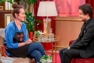 """A Ana Milán le hace mucha risa su propio chiste malo en 'MasterChef Celebrity': """"Hoy salimos Franco y yo"""""""