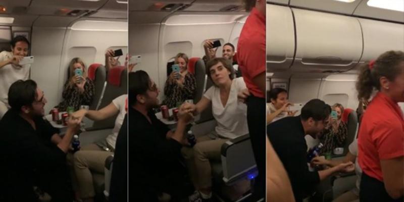 Anabel Alonso y Bustamante protagonizan una escena de lo más surrealista en un avión