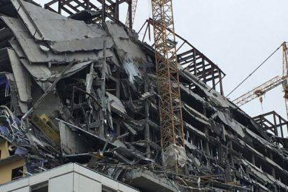 Así colapsa este hotel en EE.UU. dejando al menos un muerto y varios heridos